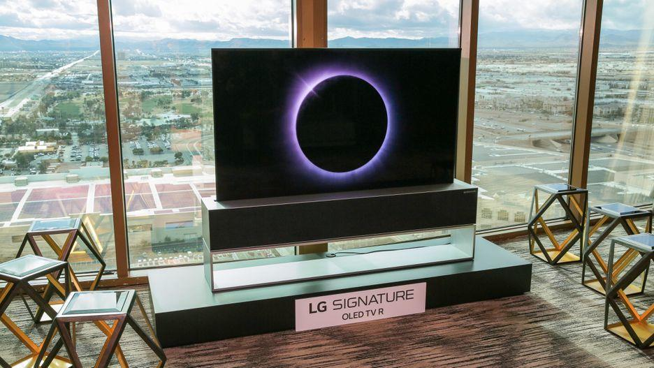 LG's new rollable Signature Series OLED TV R