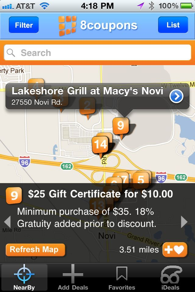 The free 8coupons app will find all kinds of deals in your area. The only problem is if they have to be printed.