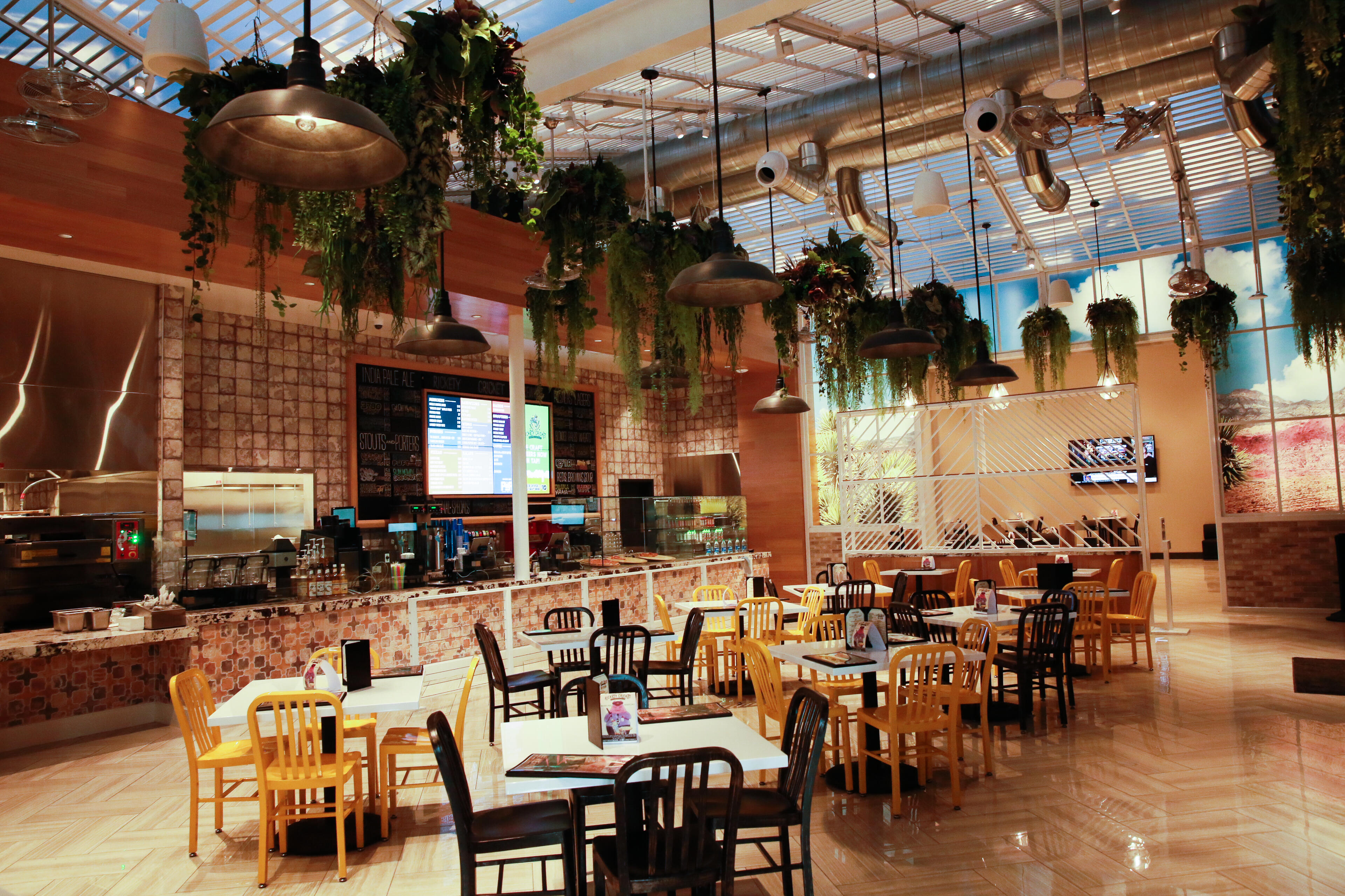 """A few months ago, Planet 13 opened up the new """"entertainment facilities"""" just across the main hall from the store itself. The restaurant features pizza, beer and other munchies."""