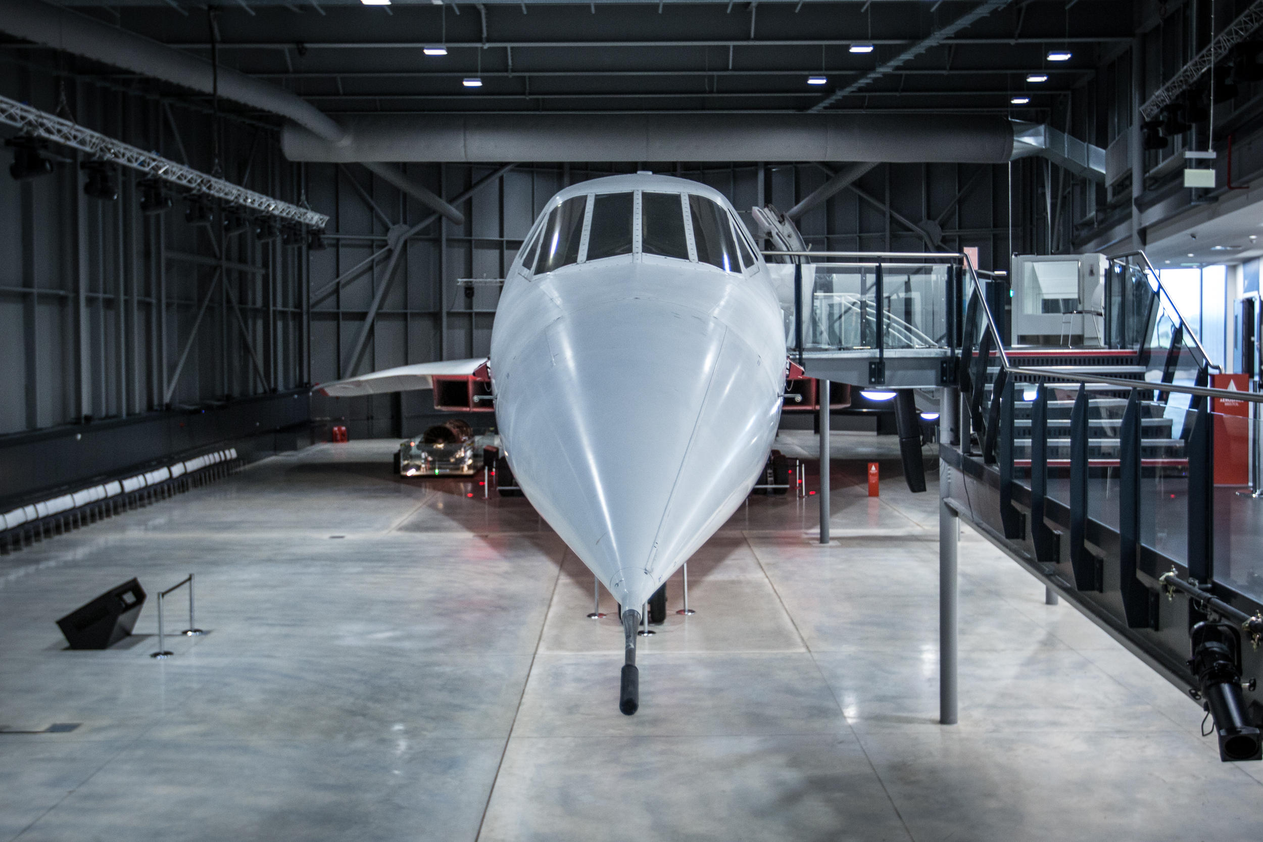 A Concorde aircraft in a museum in Bristol, England