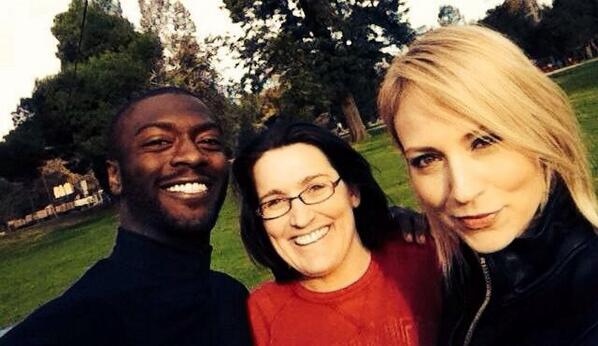 """""""Leverage"""" actors Aldis Hodge and Beth Riesgraf reunite with show co-creator Amy Berg for the premiere episode of """"Caper."""""""