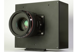 Canon showed this prototype video camera to accommodate the sensor.