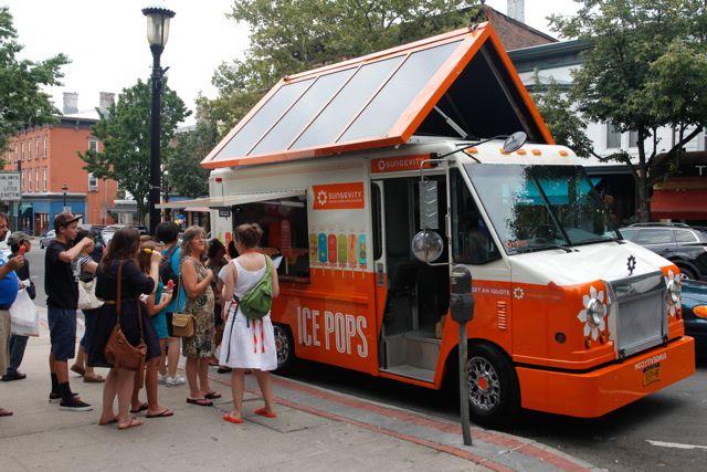 Part of Sungevity's marketing efforts in the east coast--an ice cream truck decked with solar panels.