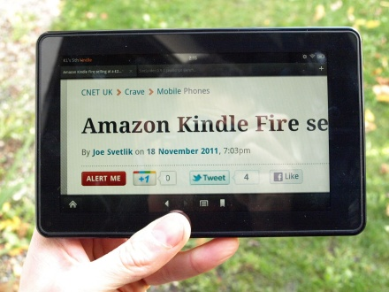 Amazon Kindle Fire pinch to zoom