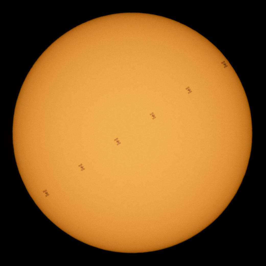 Is that a TIE fighter crossing the sun?