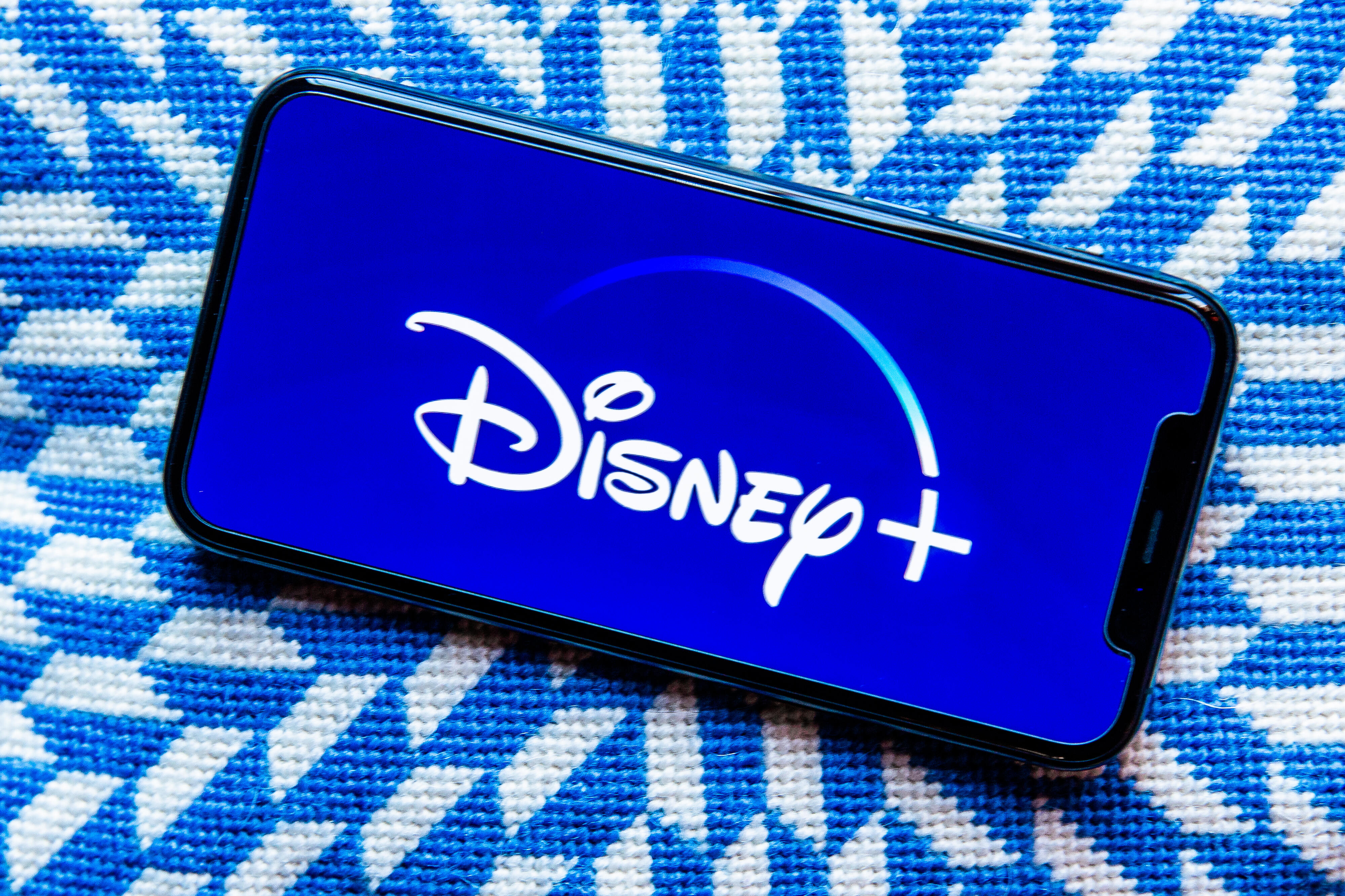 Disney Plus' logo on a phone