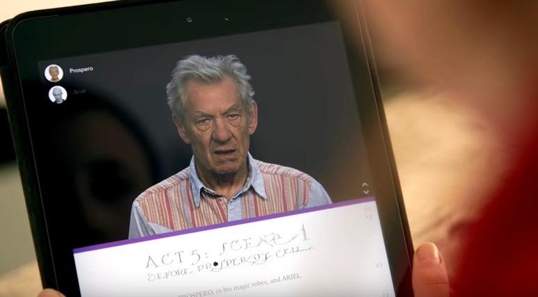 "Actor Sir Ian McKellen makes ""The Tempest"" easier to enjoy, with interactive displays and character explanations."