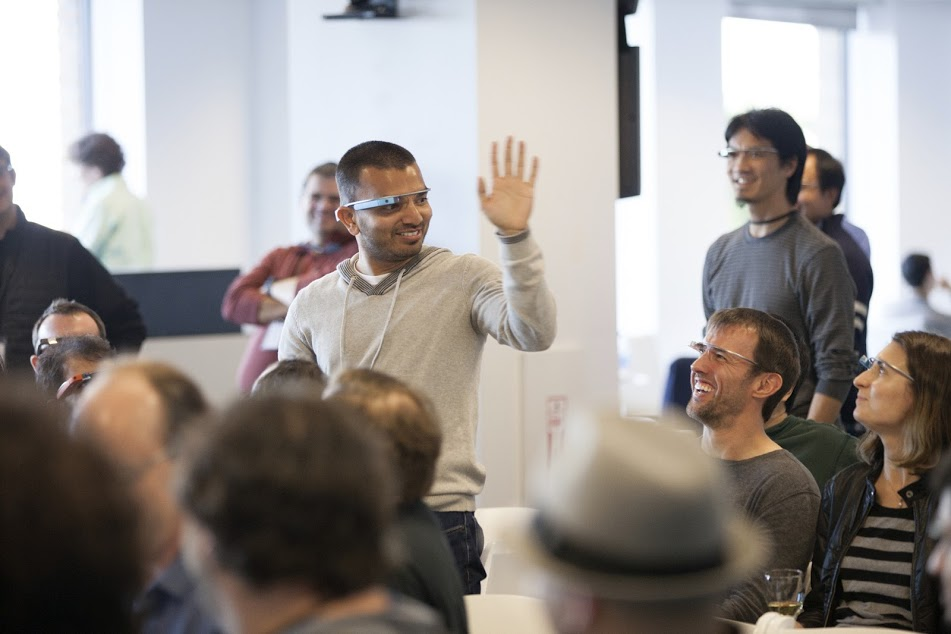 Pictures from the two-day Google Glass hackathon in January