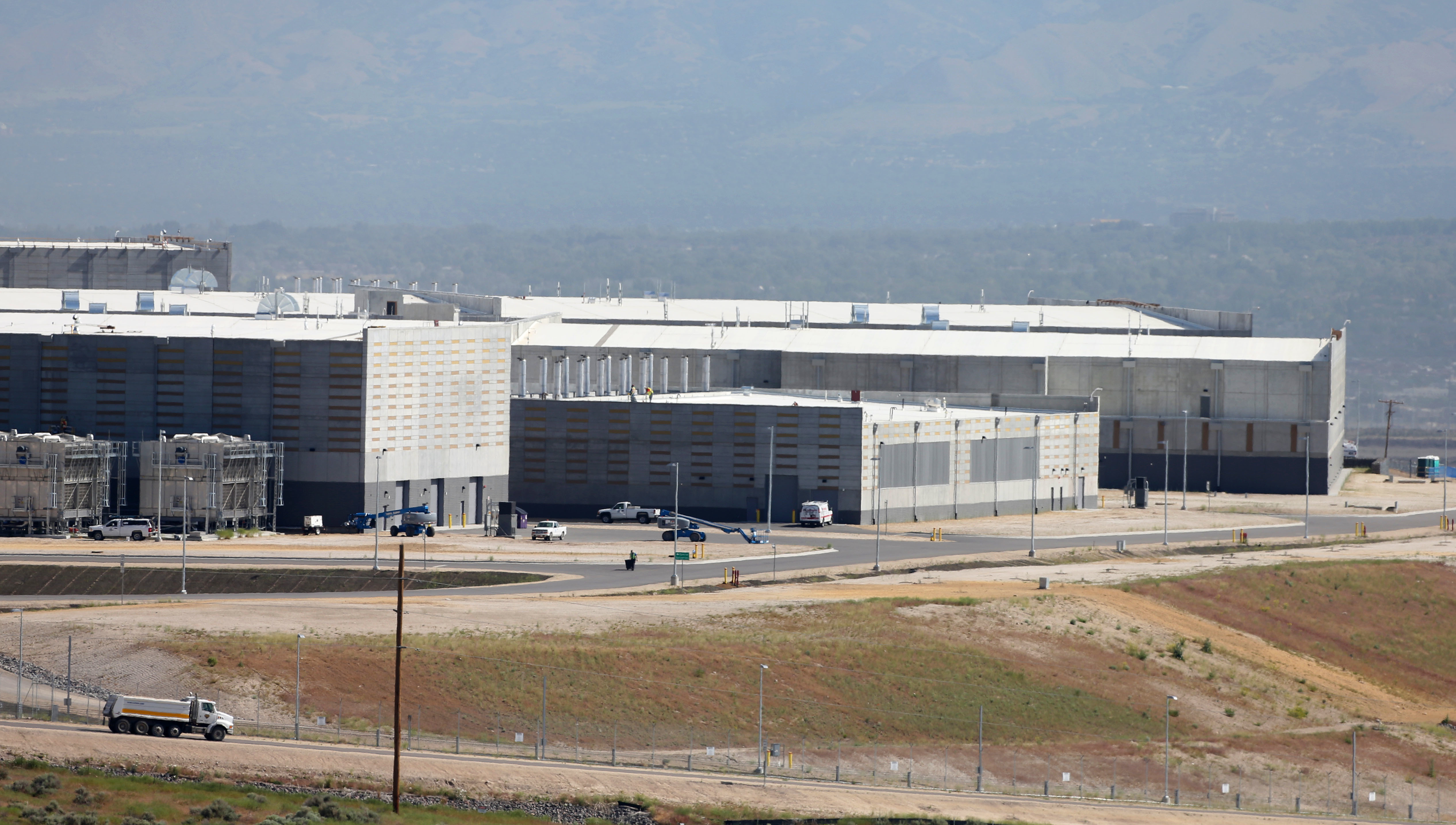 A portion of the NSA's mammoth data center in Bluffdale, Utah, scheduled to open this fall.