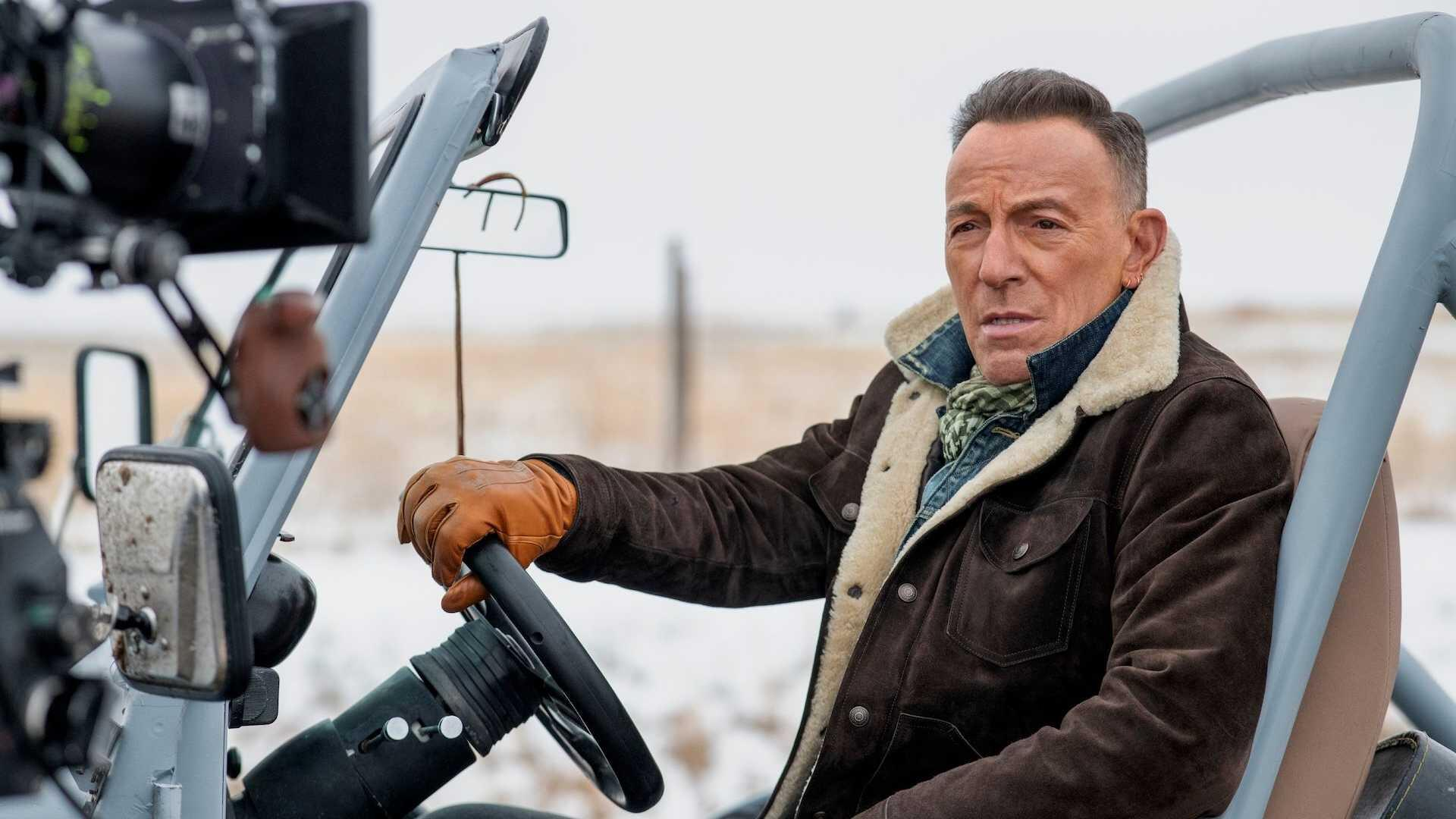 Bruce Springsteen with Jeep in Super Bowl ad