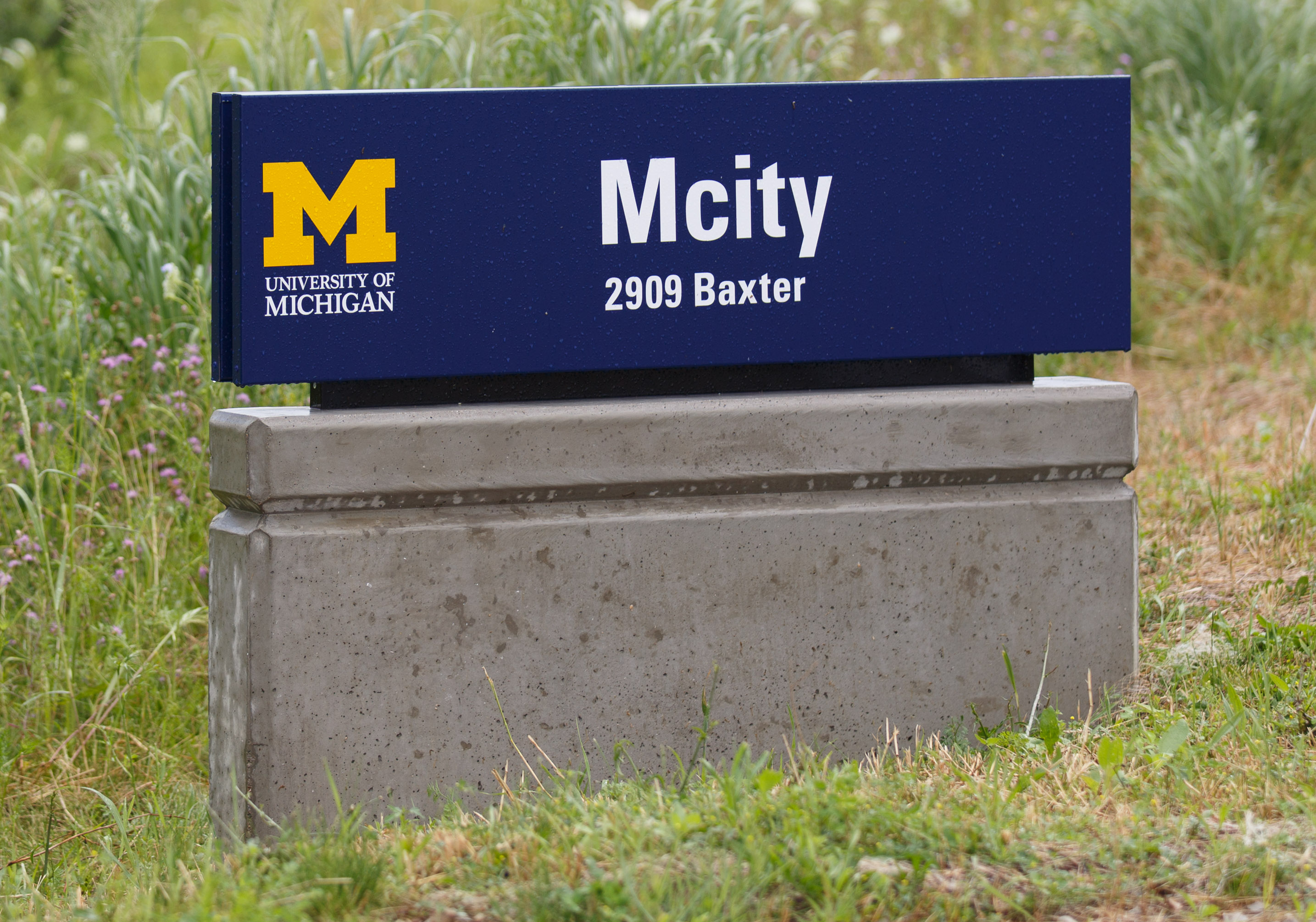 The University of Michigan's Mcity site is designed to test self-driving cars and car-to-car communications.