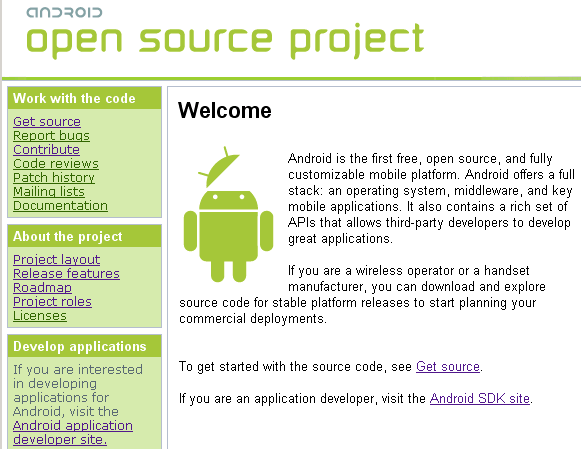 Google opened the doors on its Android Open Source Project on Tuesday.
