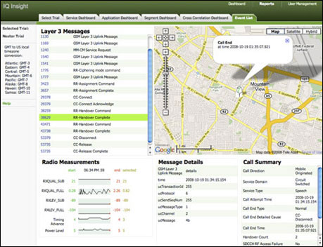 A look at some of the actionable data Carrier IQ collects, including location information of a single device user.