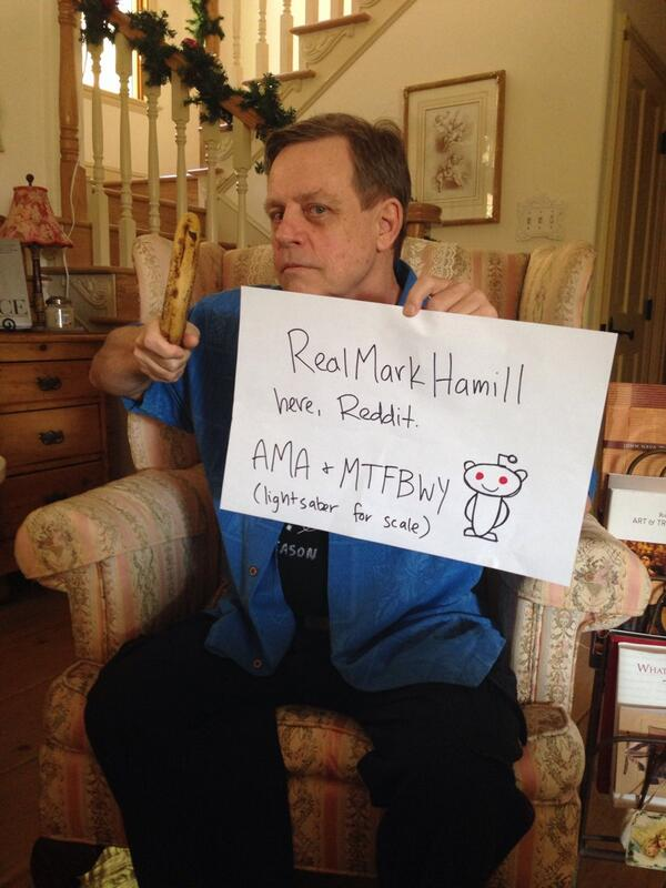 Actor Mark Hamill answered fan questions on everything from Yoda to dating advice on his AMA Reddit.