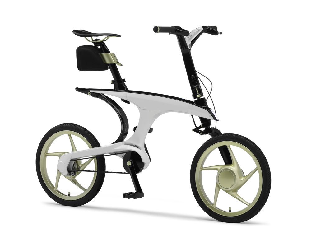 The electrically power-assisted bicycle Pas With designed by Toyota and Yamaha.