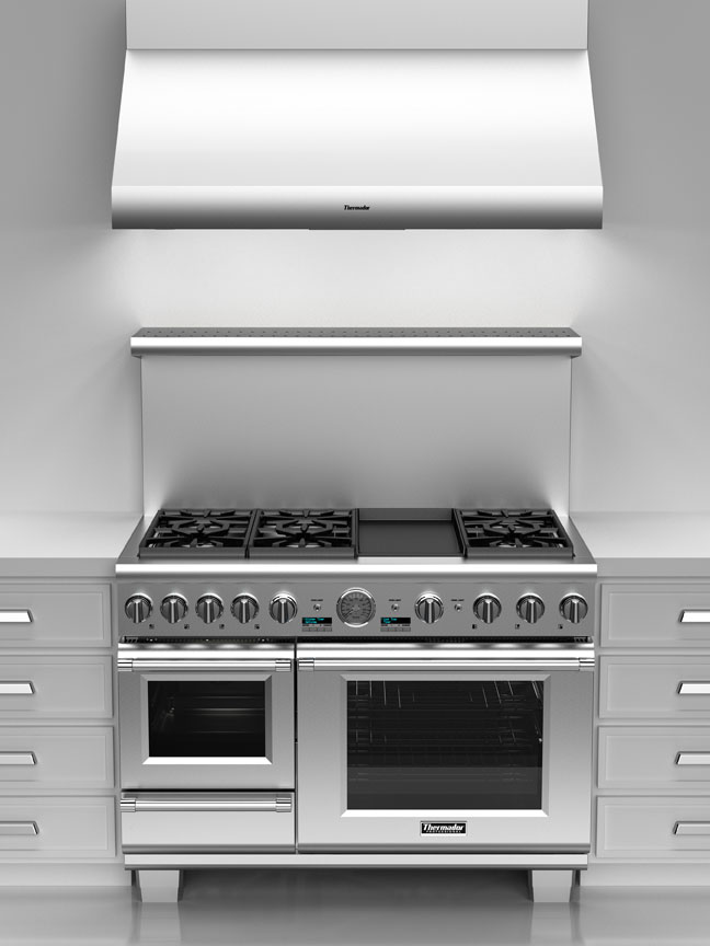 Cook what you want, how you want it with the versatile Thermador Pro Grand Steam Range.