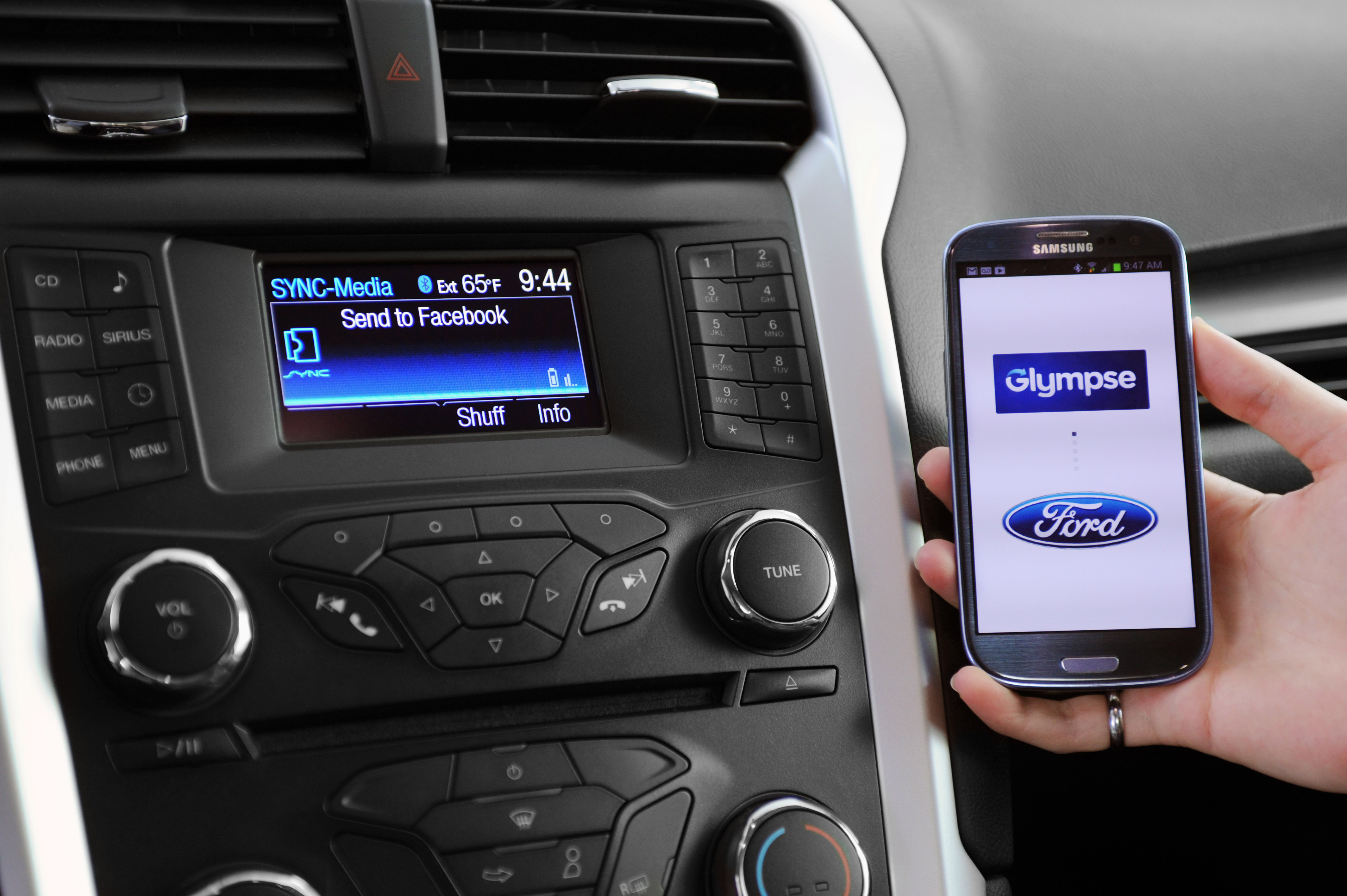 Ford Sync with Glympse