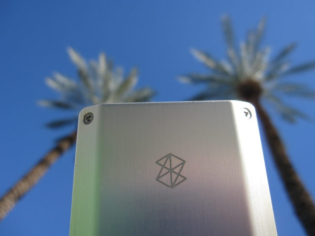 Photo of Zune HD portable media player at CES 2010.