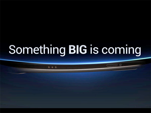 Samsung's ad teasing the Android smartphone.