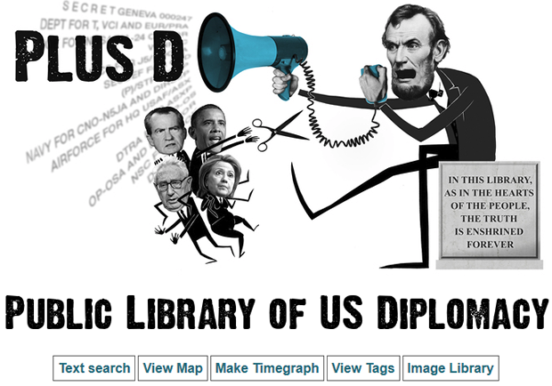 Wikileaks unveils a searchable library of diplomatic documents.
