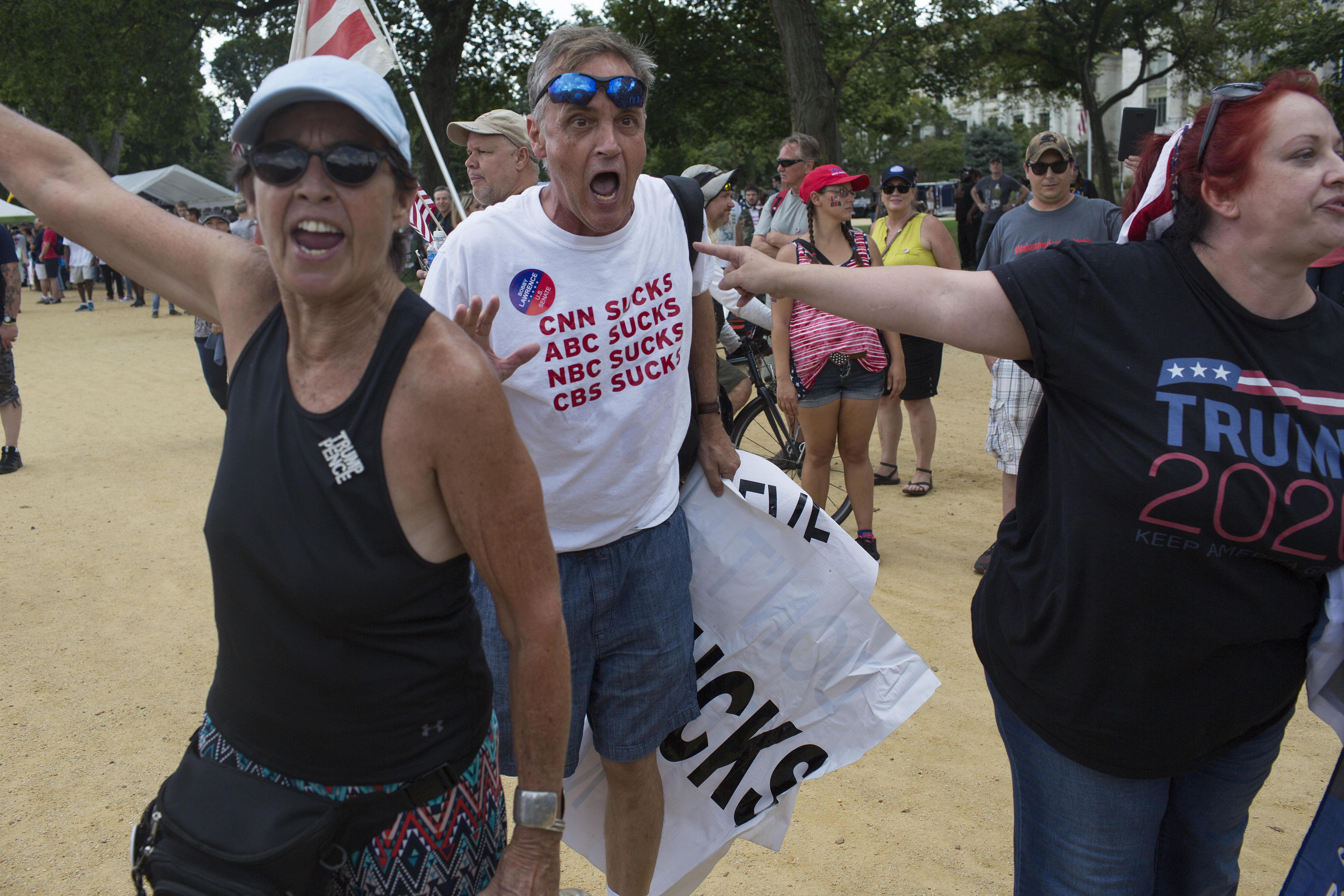 Trump Supporters Rally on the National Mall in Washington, DC