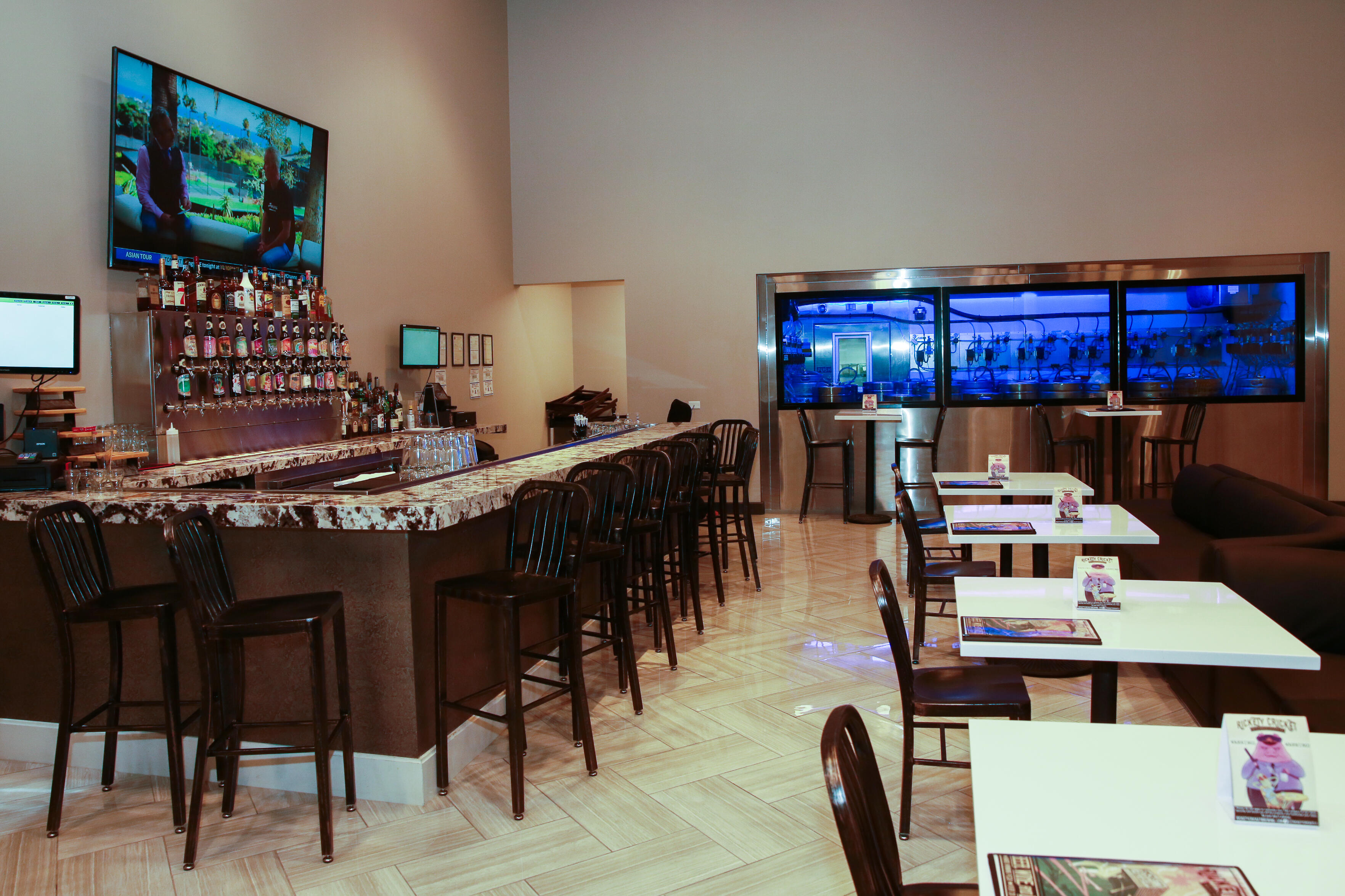 An adjacent bar serves cannabis-infused beverages as well. Planet 13 is open 24 hours a day.