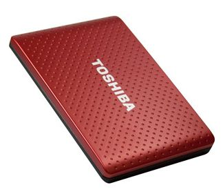 This Toshiba portable hard drive does automatic backups and supports USB 3.0.