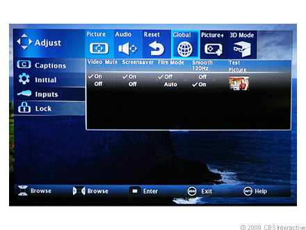 Mitsubishi WD-737 series global picture settings