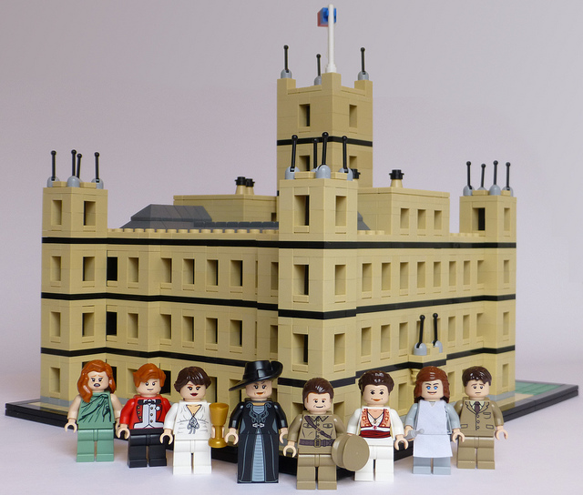 """A dedicated fan paid tribute with Legos to the Crawley clan and their servants, as well as their impressive home, from the popular British TV drama, """"Downton Abbey."""""""
