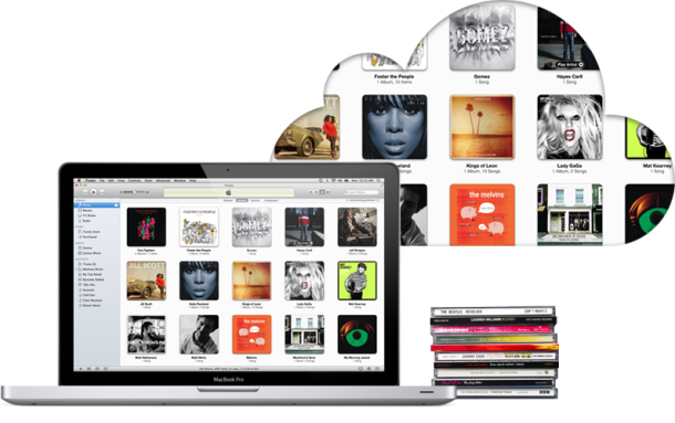 iTunes Match, a feature that scans a user's library to find music that wasn't purchased from Apple.