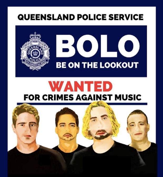 The Nickelback-hating poster created by the Queensland Police in Australia.