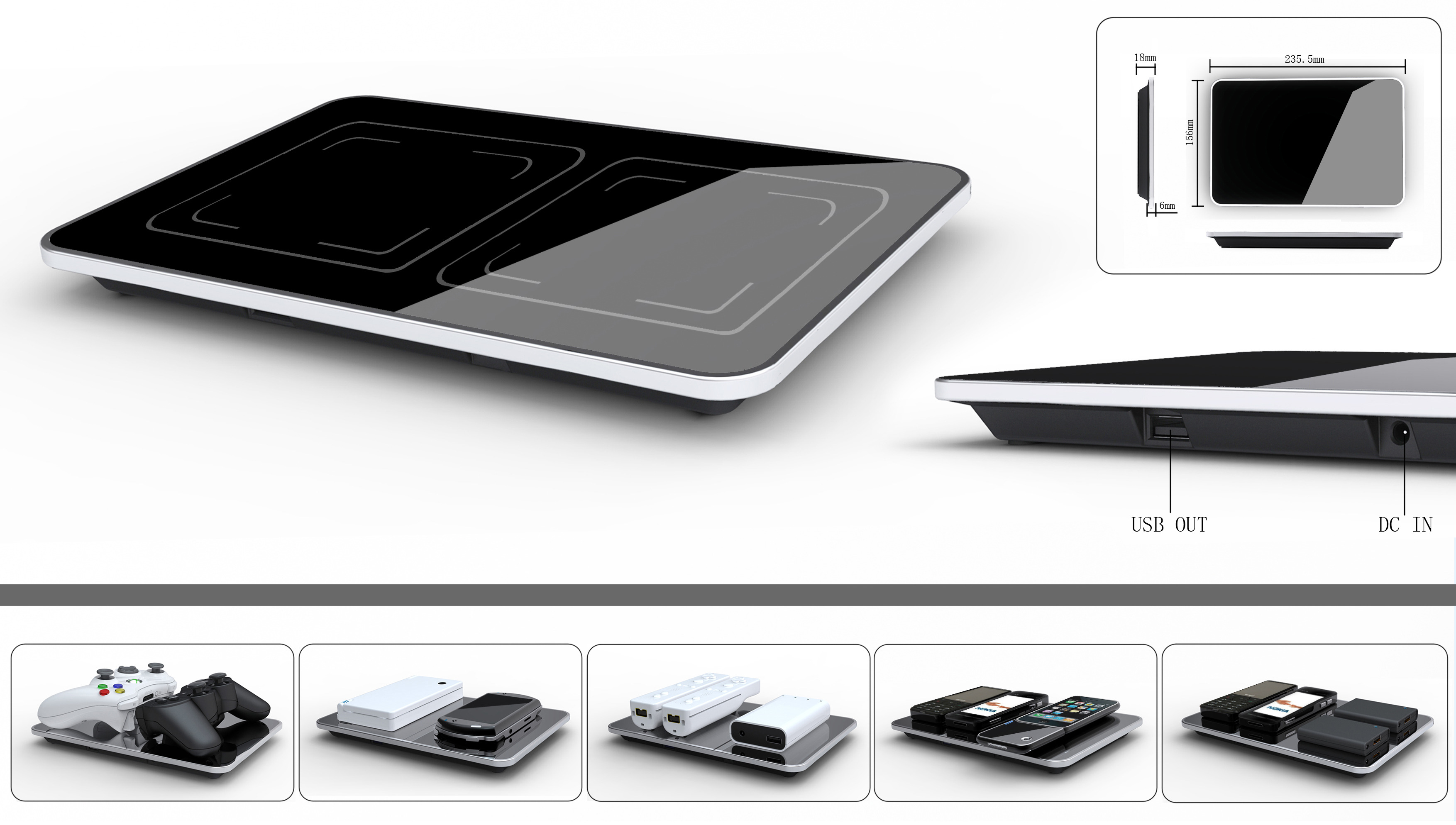 The ElectroHub wireless charging station comes with compliant batteries to replace your electronics' originals.