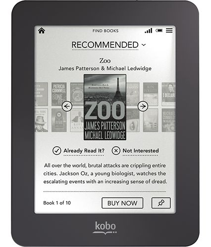 The Kobo Mini has a pocket-friendly form factor and a touchscreen.