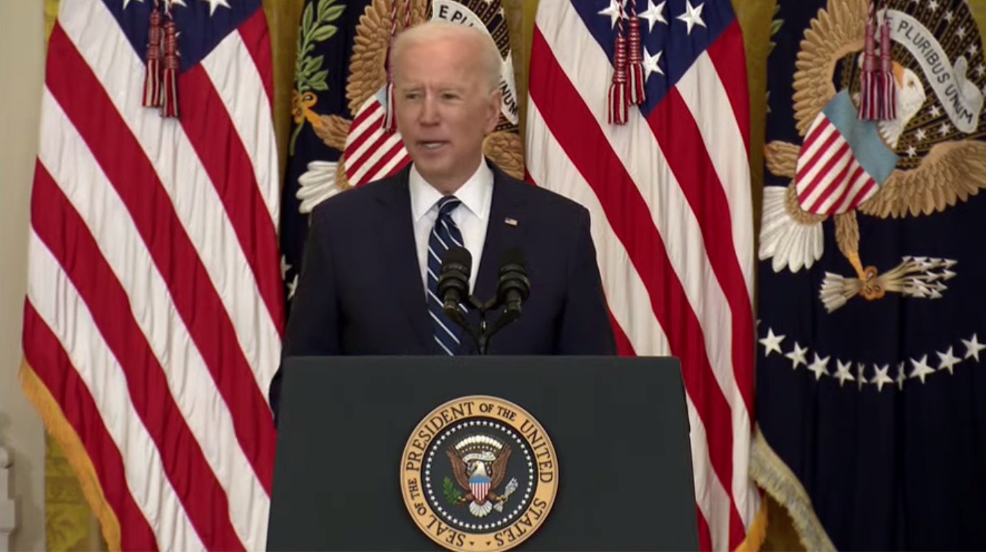 Joe Biden at White House lectern