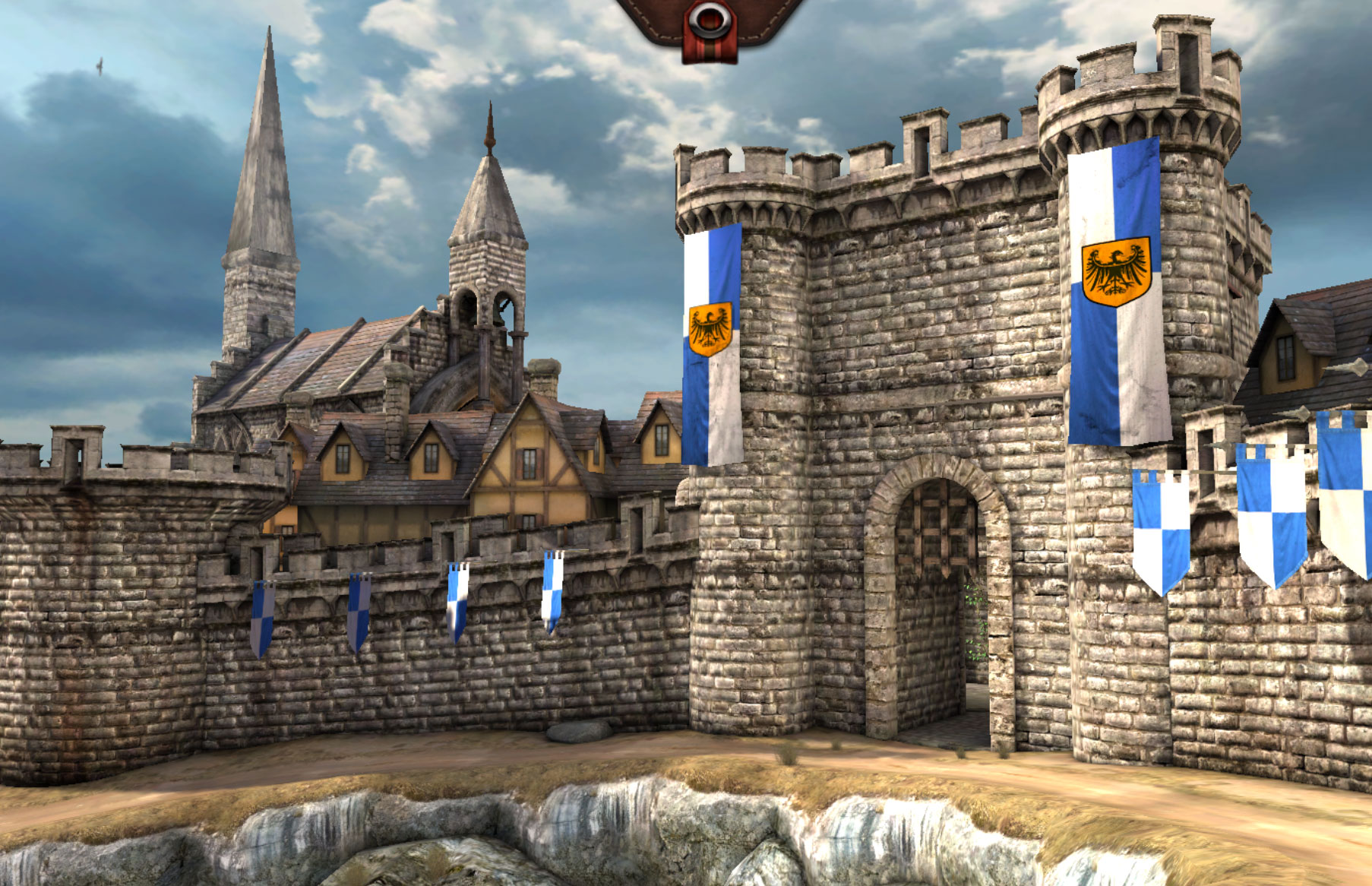 The Epic Citadel demo of Unreal Engine 3 running in a browser using high-speed JavaScript and WebGL.