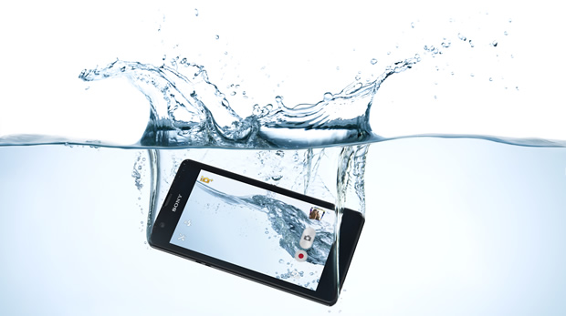 Sony's Xperia ZR phone can withstand a dunking.