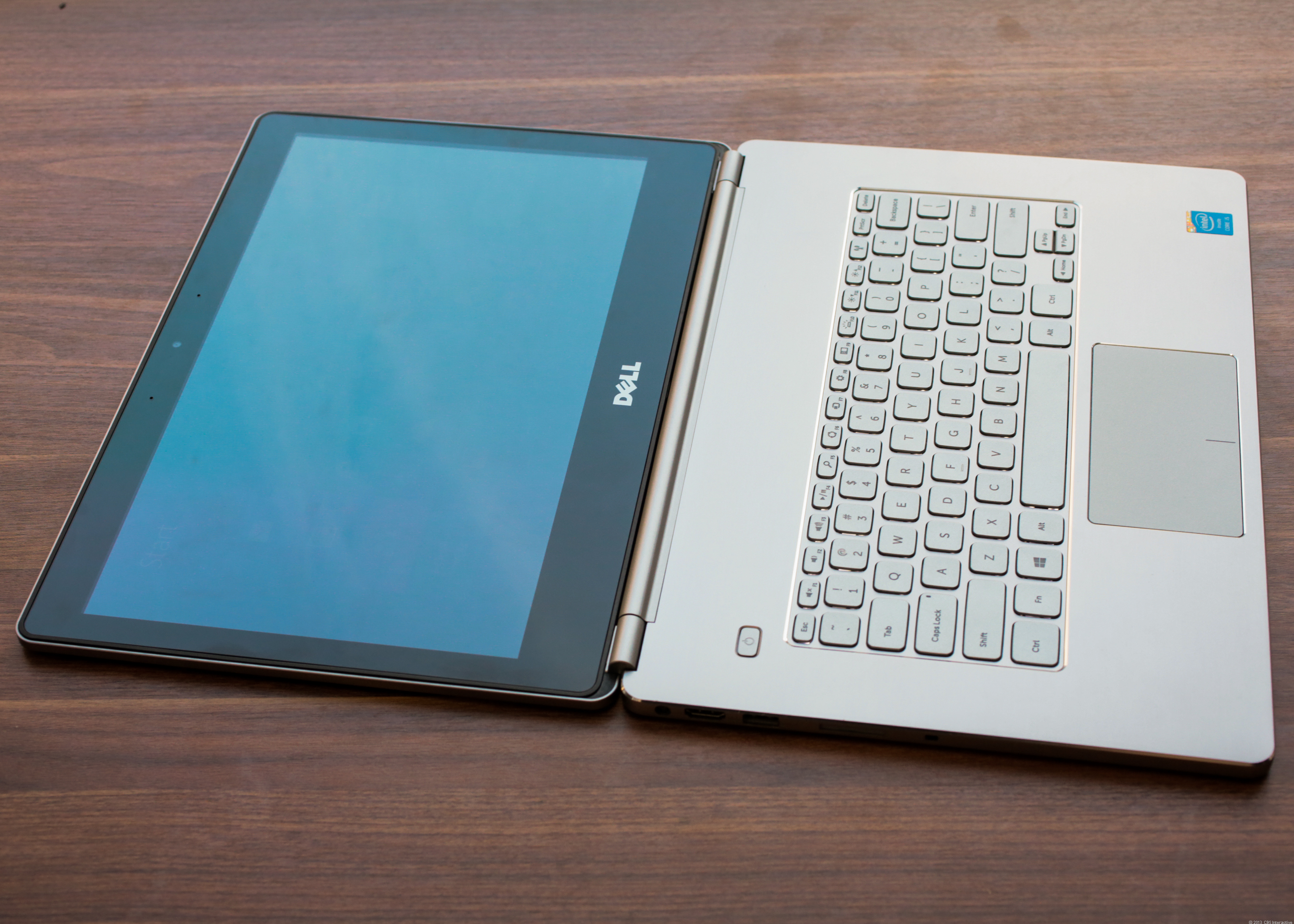Lay it flat for better touch screen access