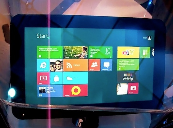 An Intel Windows 8 tablet powered by an upcoming Atom chip.