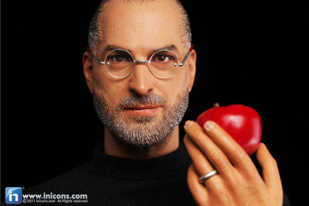 The Steve Jobs action figure, which may not end up shipping.