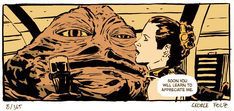 Jabba puts on the charm