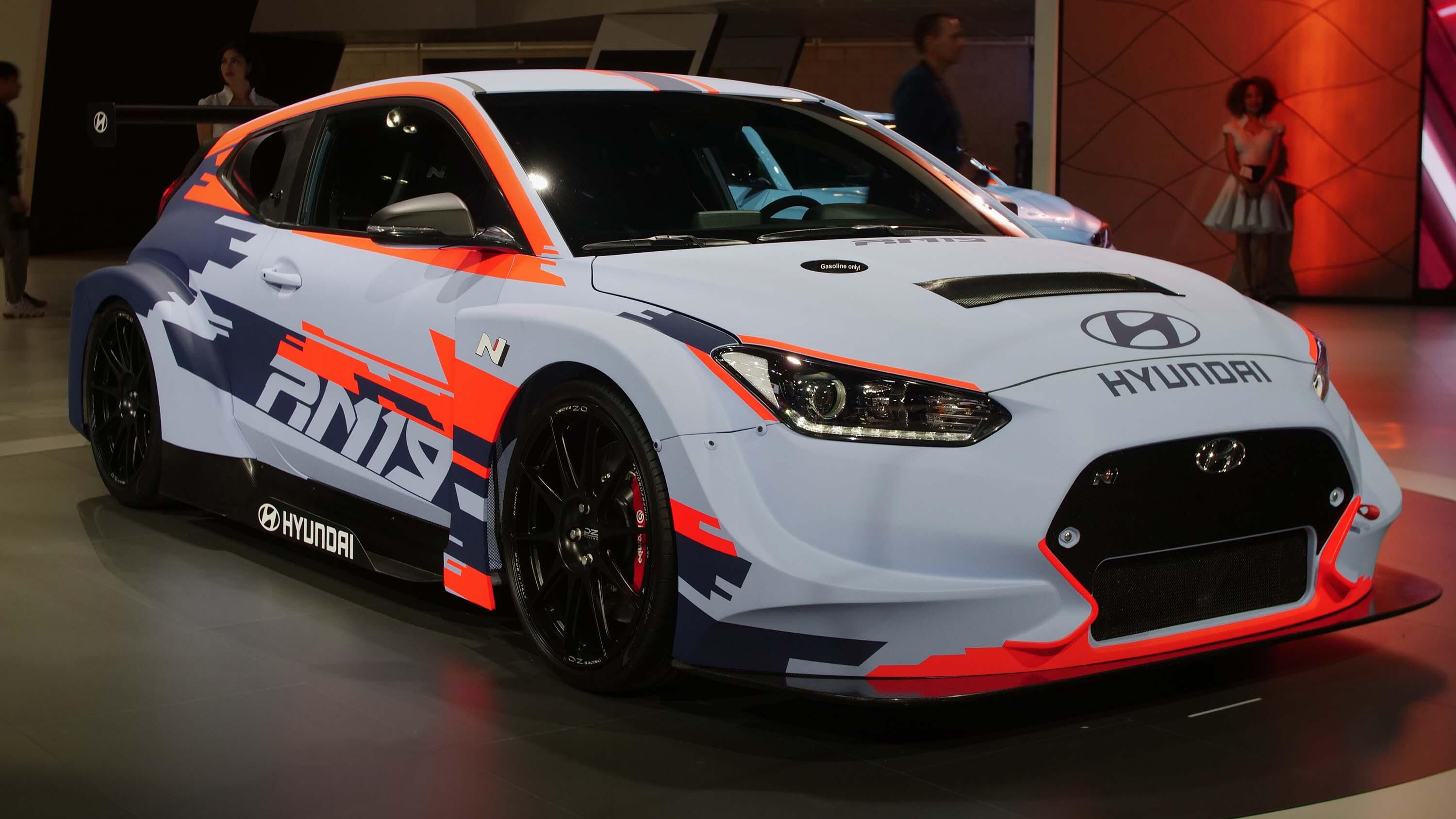Video: Hyundai shows off the next-level Veloster in the RM19 in Los Angeles