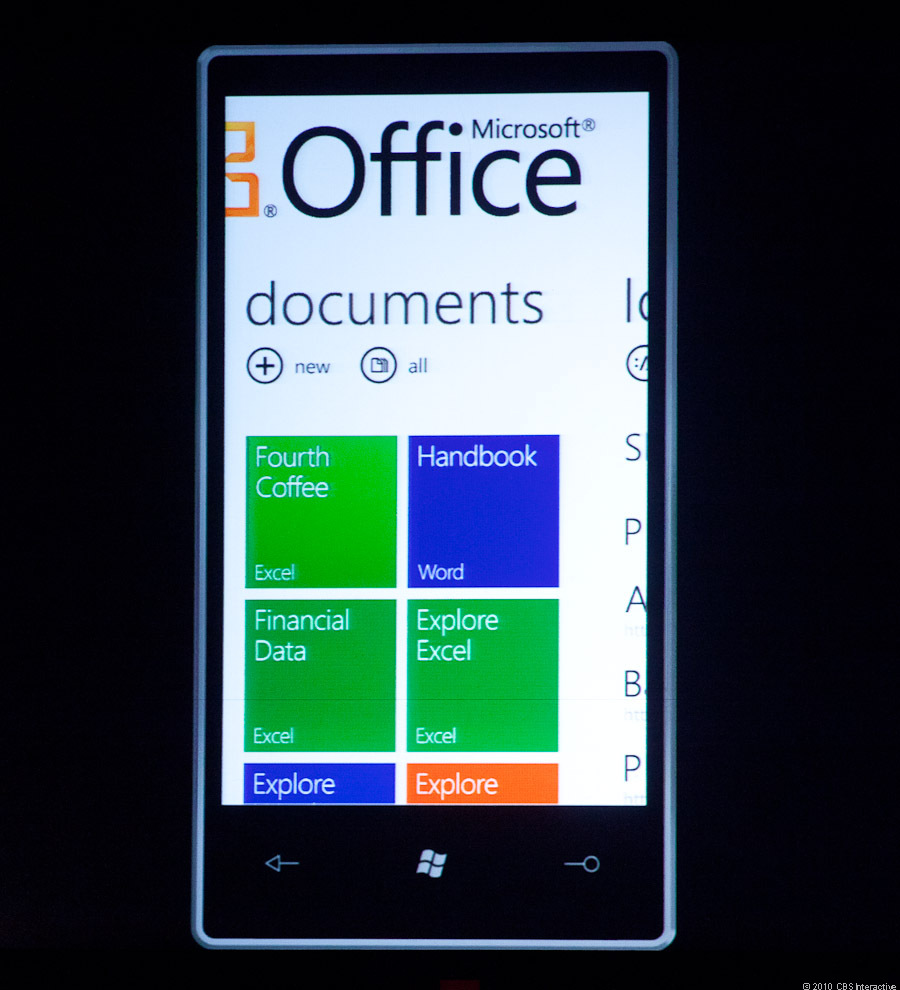 Microsoft Office integrated with future Windows Phone 7