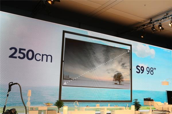 Samsung announced a new 98-inch model of its S9 line of Ultra HD TVs at the IFA electronics show on Thursday.