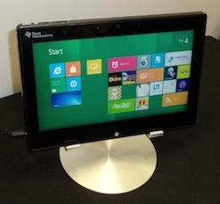 Windows 8 running on a Texas Instruments OMAP 4470 processor at CES.