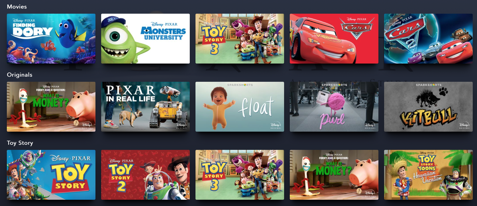 Pixar Disney Plus