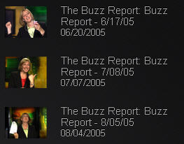 Buzz Report stills ... oh, how silly I felt posing for these.