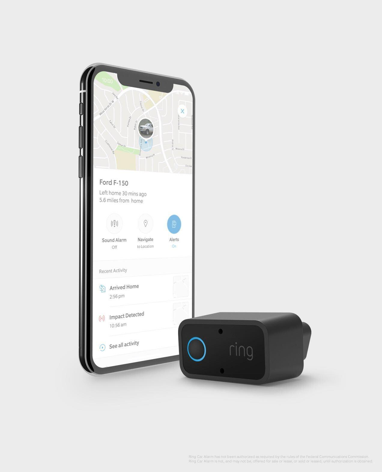 Ring Car Alarm dongle with phone app