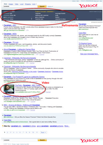 Yahoo! SERPs with Search Assist.