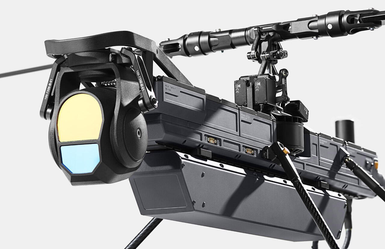 Anduril's Ghost 4 drone can accept a variety of sensors to monitor a battlefield or protect a military base.