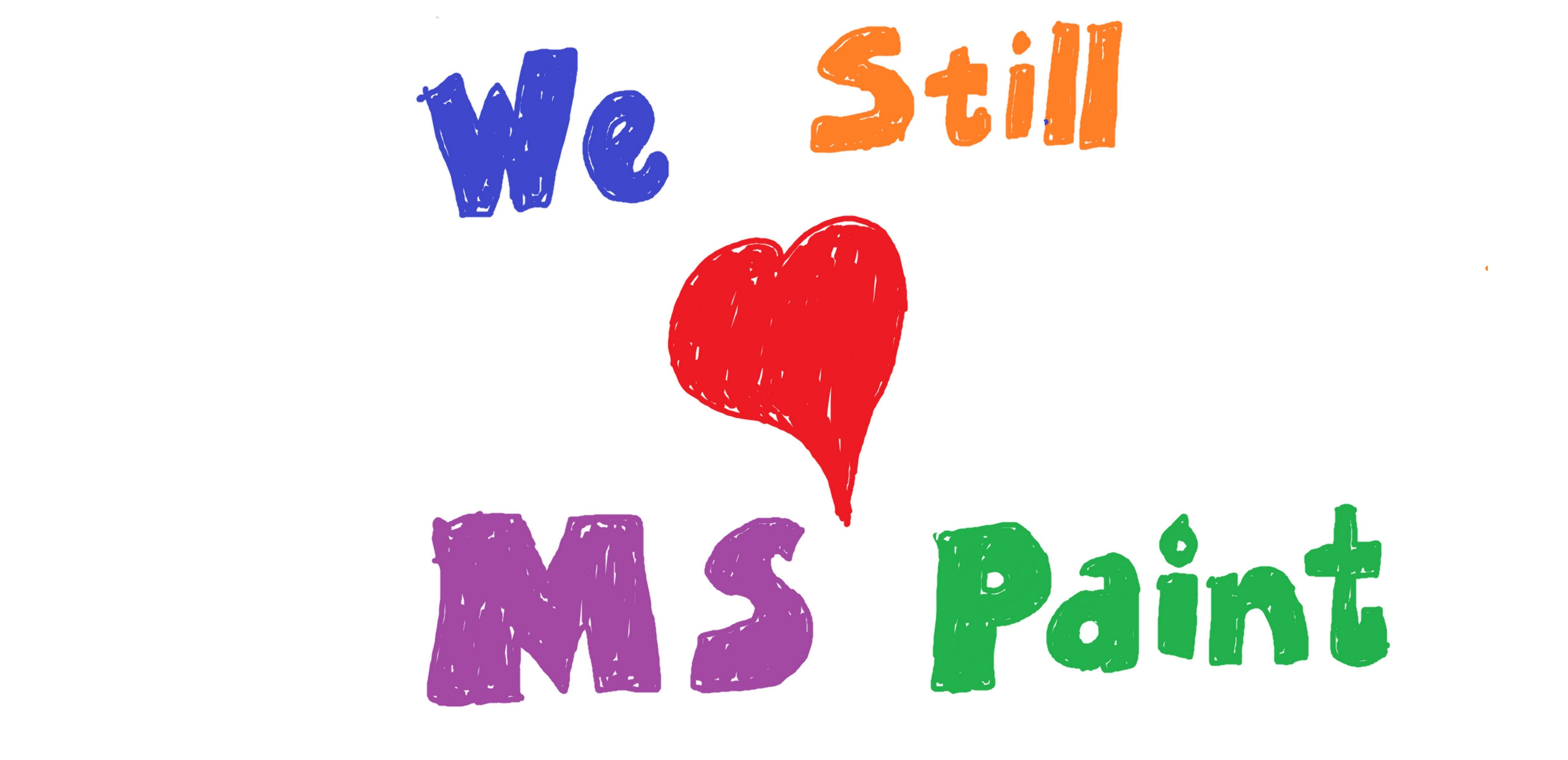 """We still [heart] MS Paint"""
